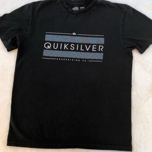 Quicksilver Mens Black T Shirt sz Large
